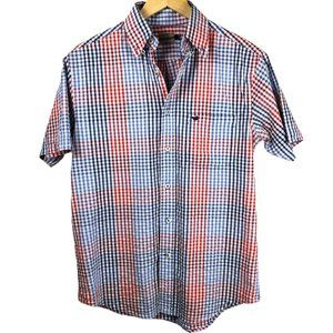 Southern Marsh Gingham Button Down Top SM